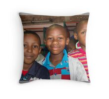 Young African Boys Throw Pillow