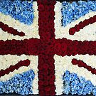 Floral Union Flag by Ludwig Wagner