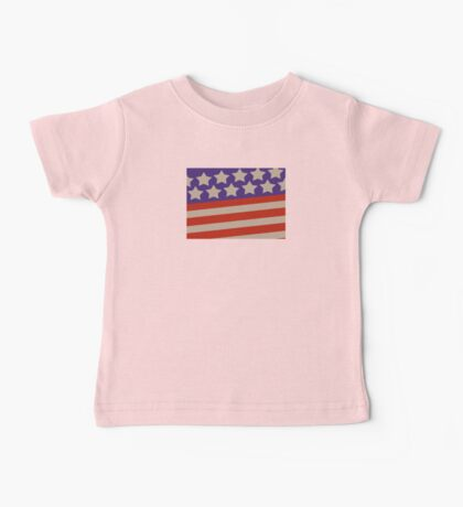USA patriotic theme flag design Baby Tee
