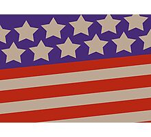 USA patriotic theme flag design Photographic Print