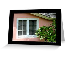 Pink Play House Window - Planting Fields Arboretum State Historic Park - Upper Brookville, New York Greeting Card