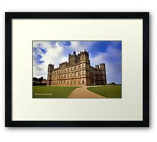 Downton Abbey Digital Art Framed Print