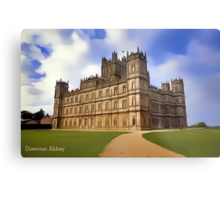 Downton Abbey Digital Art Metal Print