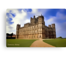 Downton Abbey Digital Art Canvas Print