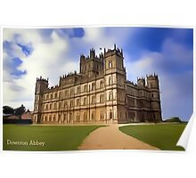 Downton Abbey Digital Art Poster