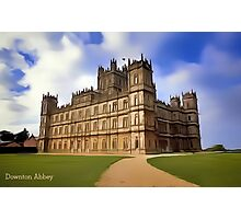 Downton Abbey Digital Art Photographic Print
