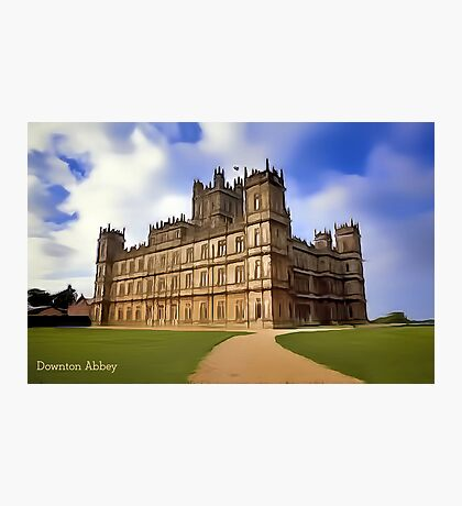 Downton Abbey Digital Art Photographic Print