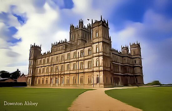 Downton Abbey Digital Art by David Alexander Elder