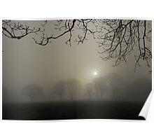 Silver Sunrise Plasterdown Dartmoor Devon England. Poster