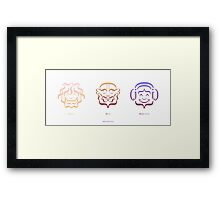 Hipster, Mond & Music Lover Framed Print