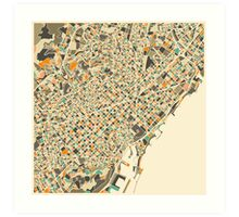 BARCELONA MAP Art Print