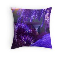 Purple and Lavender Garden Throw Pillow