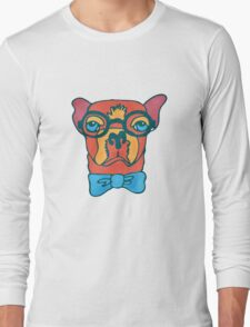 Bowdy Boxer the Handsome Asture Geek Dog T-Shirt
