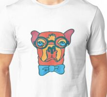 Bowdy Boxer the Handsome Asture Geek Dog Unisex T-Shirt