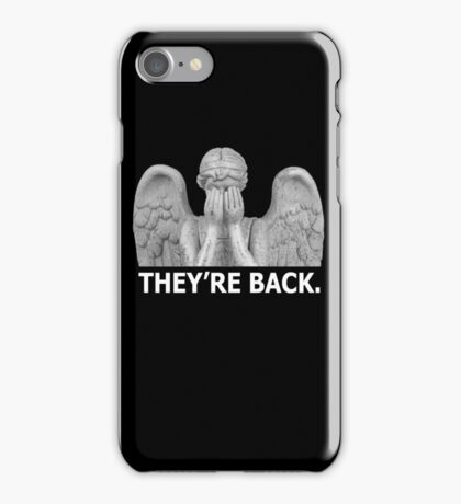 Doctor Who | Weeping Angel (White) iPhone Case/Skin