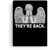 Doctor Who | Weeping Angel (White) Canvas Print