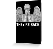 Doctor Who | Weeping Angel (White) Greeting Card