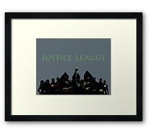 The Justice League in Young Justice Framed Print