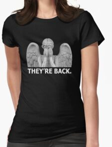 Doctor Who | Weeping Angel (White) Womens Fitted T-Shirt