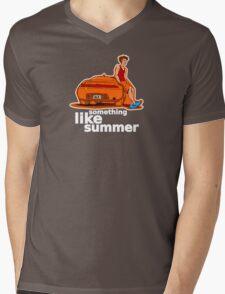 Something Like Summer - Dark colors / White text Mens V-Neck T-Shirt
