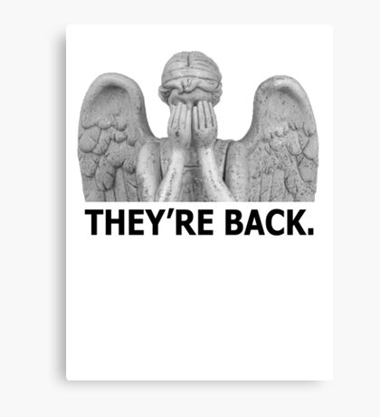 Doctor Who | Weeping Angel (Black) Canvas Print