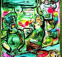 VIBRATIONS - acrylic, tempera, paper 18 x 24'' by irishrainbeau