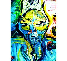 fragment CRIMINAL BUDDHA - tempera, acrylic, paper Photographic Print