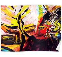 fragment CRIMINAL BUDDHA - tempera, acrylic, paper Poster