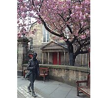 Statue in front of Canongate Kirk, Edinburgh Photographic Print