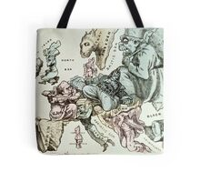 Comic map of Europe by Frederick Rose, c.1870 (litho) Tote Bag