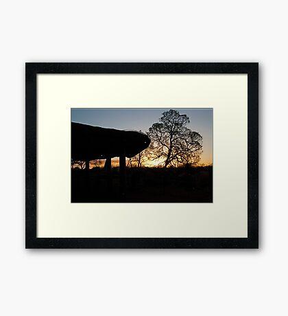 Uluru Shelter Framed Print