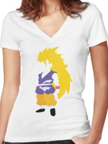 Goku SSJ3 Women's Fitted V-Neck T-Shirt