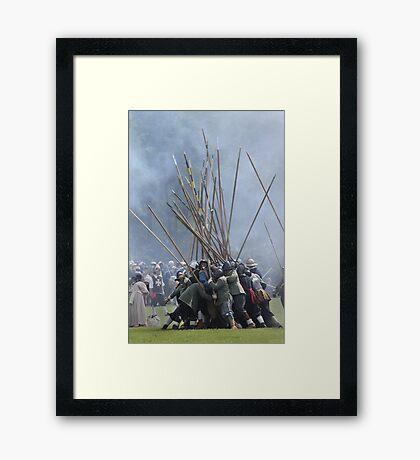 Pike Scrum - Civil War Re-enactment Framed Print