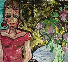 fragment LUKE AND LOIS - acrylic, tempera, paper, 36 x 48 by irishrainbeau