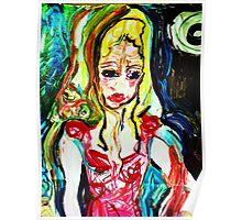 fragment HELENA AND BACCHUS - tempera, acrylic, paper  Poster