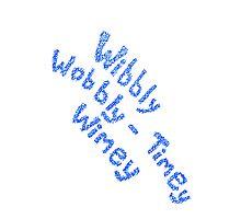Wibbly Wobbly Timey Wimey in Blue & White by ilonatoth