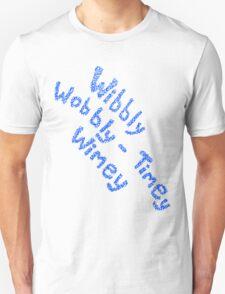 Wibbly Wobbly Timey Wimey in Blue & White T-Shirt