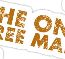The One Free Man Sticker