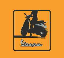Vespa Girl Womens Fitted T-Shirt