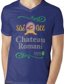 Chateau Romani (Dark Shirt) Mens V-Neck T-Shirt