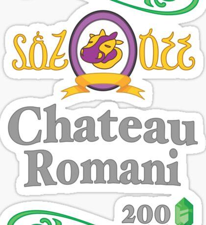 Chateau Romani (Dark Shirt) Sticker