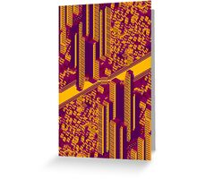 CityGlitch_Orange Greeting Card