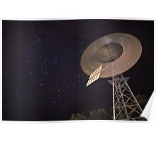 Southern Cross Windmill Starry Night in Australia Poster
