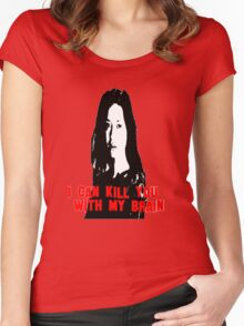 Kill You With My Brain Women's Fitted Scoop T-Shirt