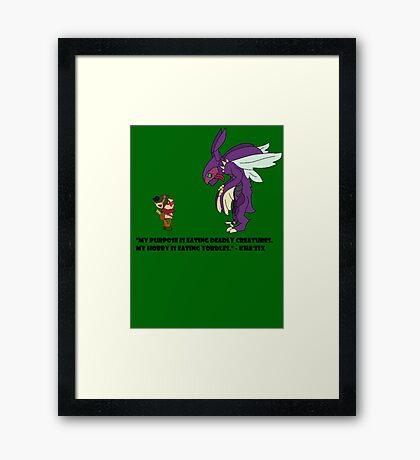 Kha'Zix Joke  Framed Print