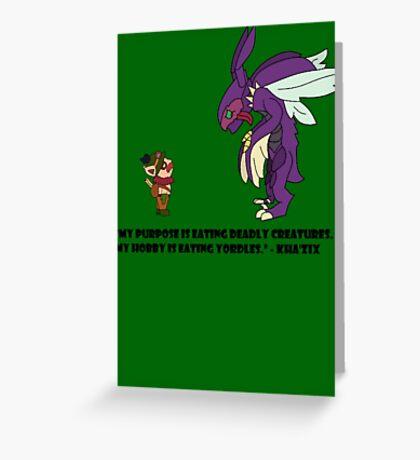 Kha'Zix Joke  Greeting Card