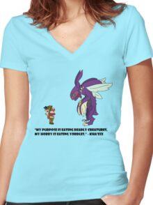 Kha'Zix Joke  Women's Fitted V-Neck T-Shirt