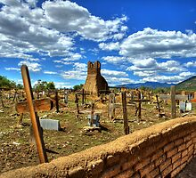 Taos Pueblo Cemetery by K D Graves Photography