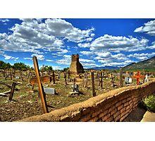 Taos Pueblo Cemetery Photographic Print