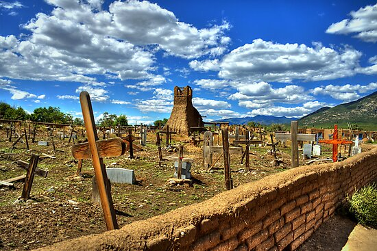 Taos Pueblo Cemetery by Diana Graves Photography